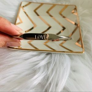 NEW Love silver tone bangle